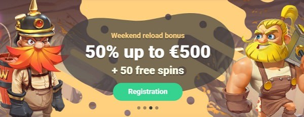 Yoyo Casino 50% extra bonus and 50 gratis spins