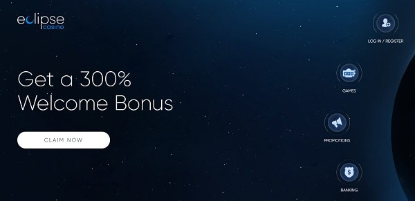 300% welcome bonus to Eclipse