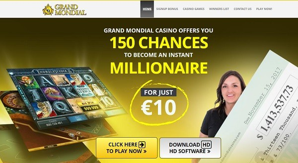 150 free chances to win Mega Moolah