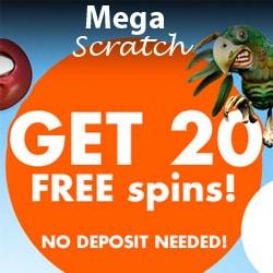 Mega Scratch Casino free spins bonuses