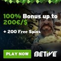 BETIVE Casino 20 free spins no deposit required!