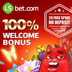 LSbet Casino | 20 free spins gratis (code: LSGRATIS)   $300 free bonus