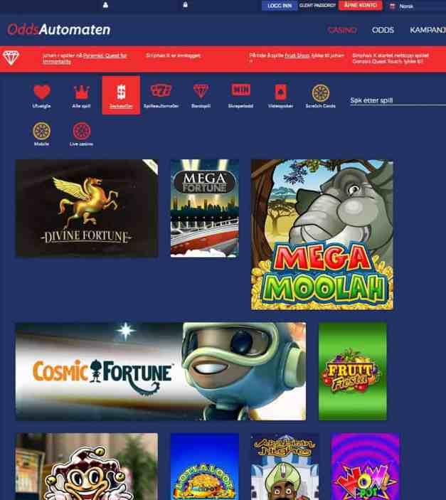 OddsAutomaten Casino free spins bonus