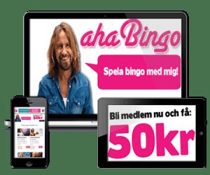 Aha Bingo Casino 50 kr gratis bonus - no deposit required!