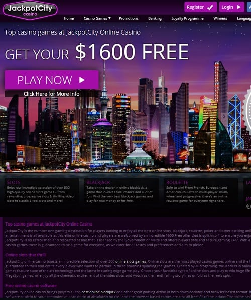 JackpotCity Online Casino free spins bonus Review