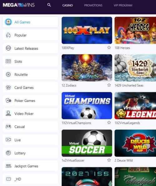 Mega Wins Casino Review