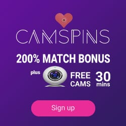 Camspins Casino 100% up to €3000 free bonus for new players