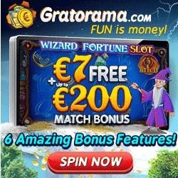 Gratorama Casino €7 no deposit needed + 100% welcome bonus