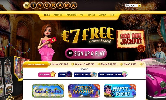 Winorama Casino free spins bonus
