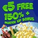 Winspark €5 free bonus on registration! No deposit required!