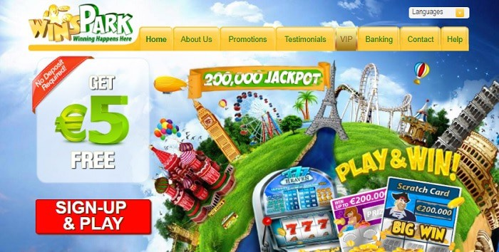 Winspark Casino Online $5 free bonus and 150% extra