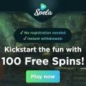 Spela Casino 100 free spins bonus - no registration, Pay N Play - Trustly
