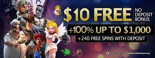 24 VIP Casino $10 no deposit required!