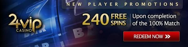 24 VIP Casino 240 free spins