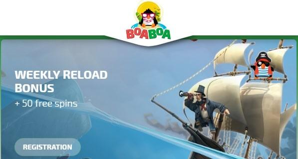 BoaBoa Casino weekly reload bonus
