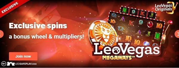 Leo Vegas exclusive spins bonus