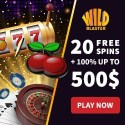 Wildblaster Casino [register & login] 20 free spins bonus