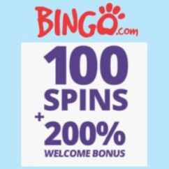 Bingo.com Casino  - 100 free spins plus 200% bonus on deposit - review
