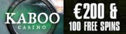 Kaboo Casino 100% up to €200 free bonus and 110 gratis spins