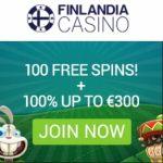 Finlandia Casino 100 free spins + €300 gratis bonus – Sweden & Finland