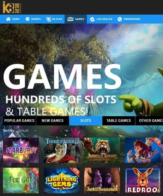 K8 Casino Online free spins bonis