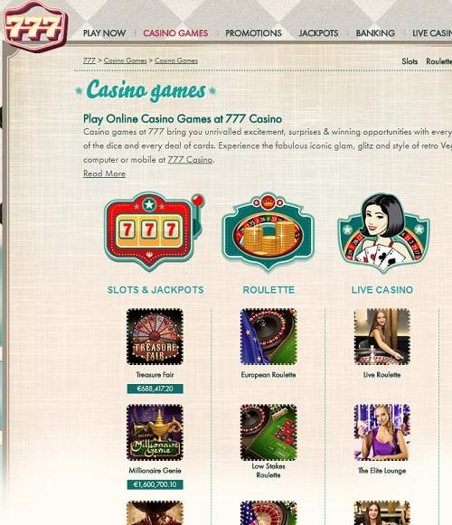 777 Casino free spins bonus