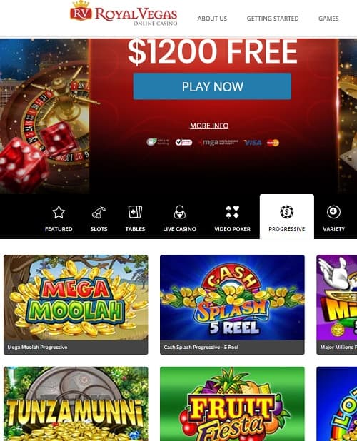 Royal Vegas Casino 100 free spins for new players