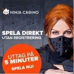 Ninja Casino 500 free spins (ilmaiskierrosta) bonus - Sweden / Finland