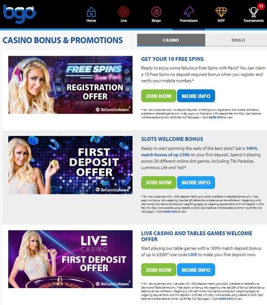 Bgo Casino free play