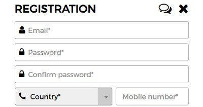 MobileWins registration and login