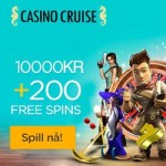 CasinoCruise.com (Sverige) 100% upp till 2 000 kr välkomstbonus