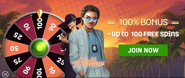 Spin and Win Casino 100 free spins and 100% welcome bonus