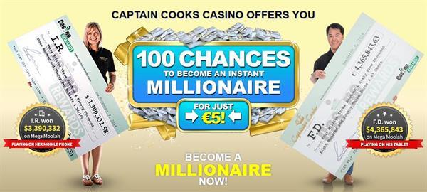 Captain Cooks Casino 100 free games
