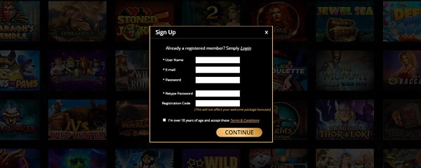 Dons Casino registration