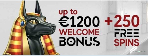 GoPro Casino 1200 USD/EUR welcome bonus