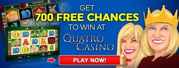 Quatro Casino 700 gratis spins welcome offer