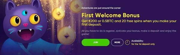 Bao Casino 100 gratis spins and 1 BTC free bonus