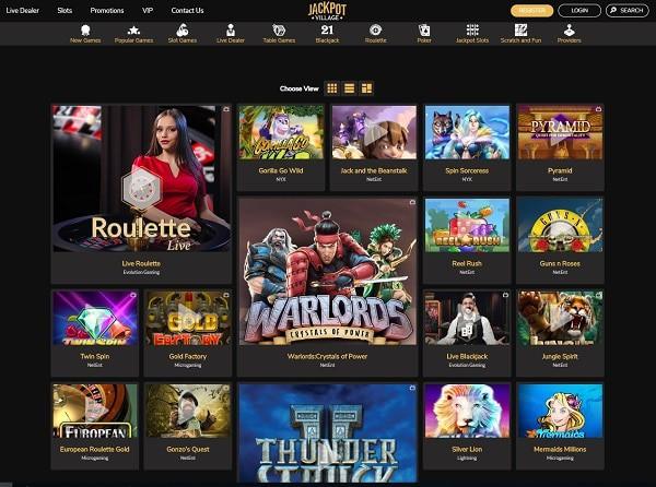 Jackpot Village Casino free bonus on registration