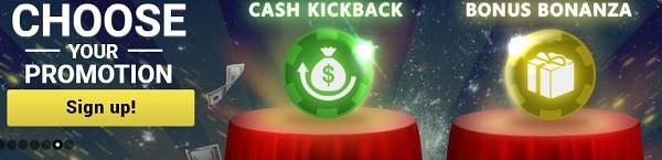 Mongoose Casino cashback, free bet, promotions