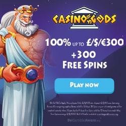 Casino Gods 300 gratis spins and 300% free bonus