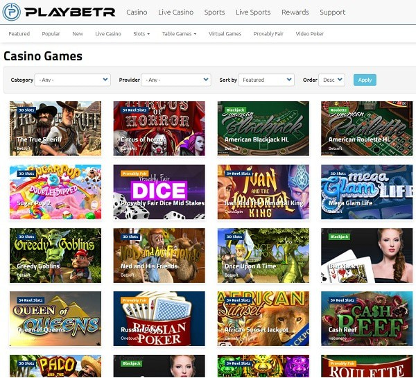 Welcome to PlayBetr Online Casino!