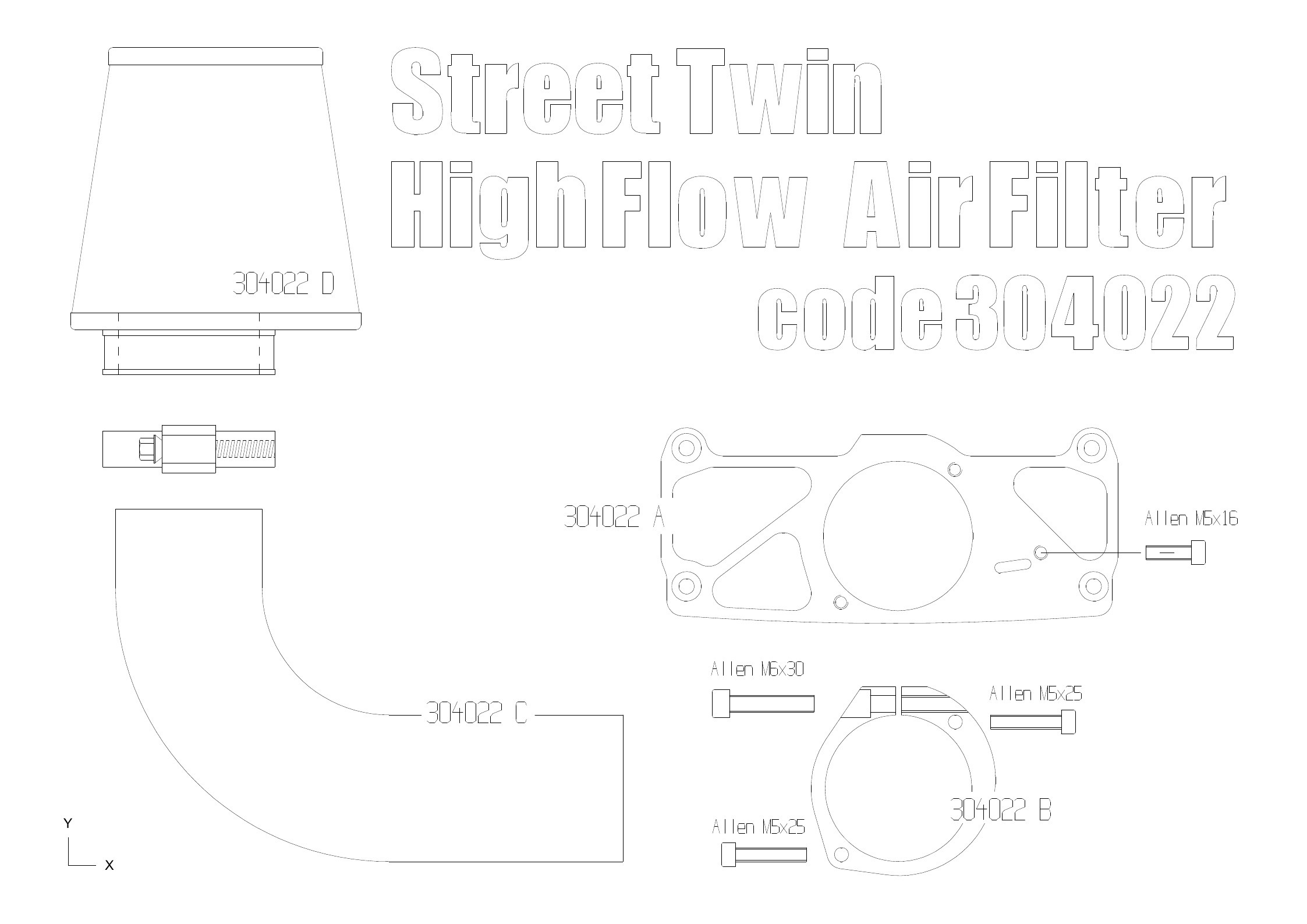 High Flow Water Proof Air Cleaner Kit For Triumph Street