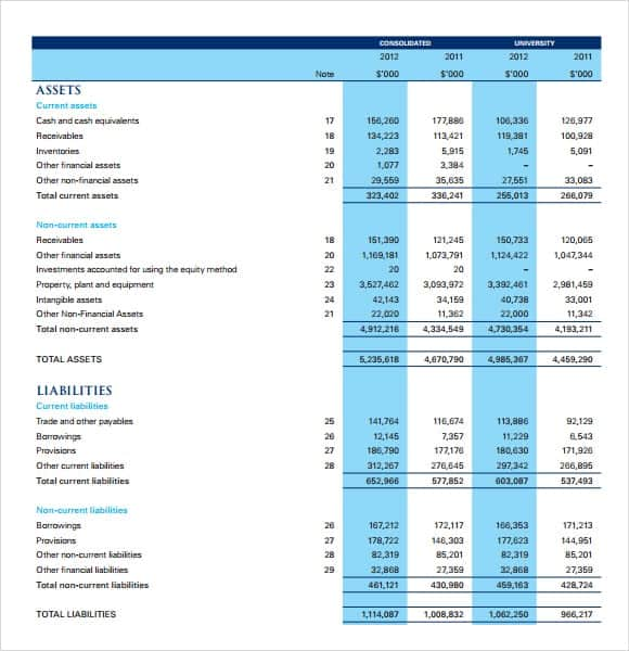 personal financial statement template word - Tikir.reitschule-pegasus.co