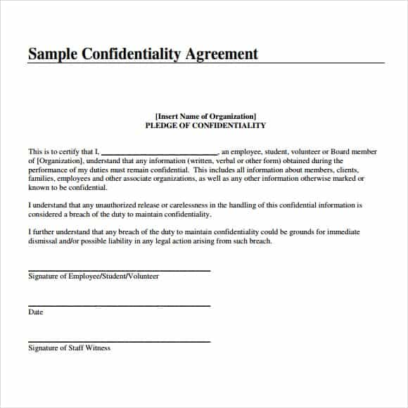3 Confidentiality Statement Templates - Word Excel Sheet PDF