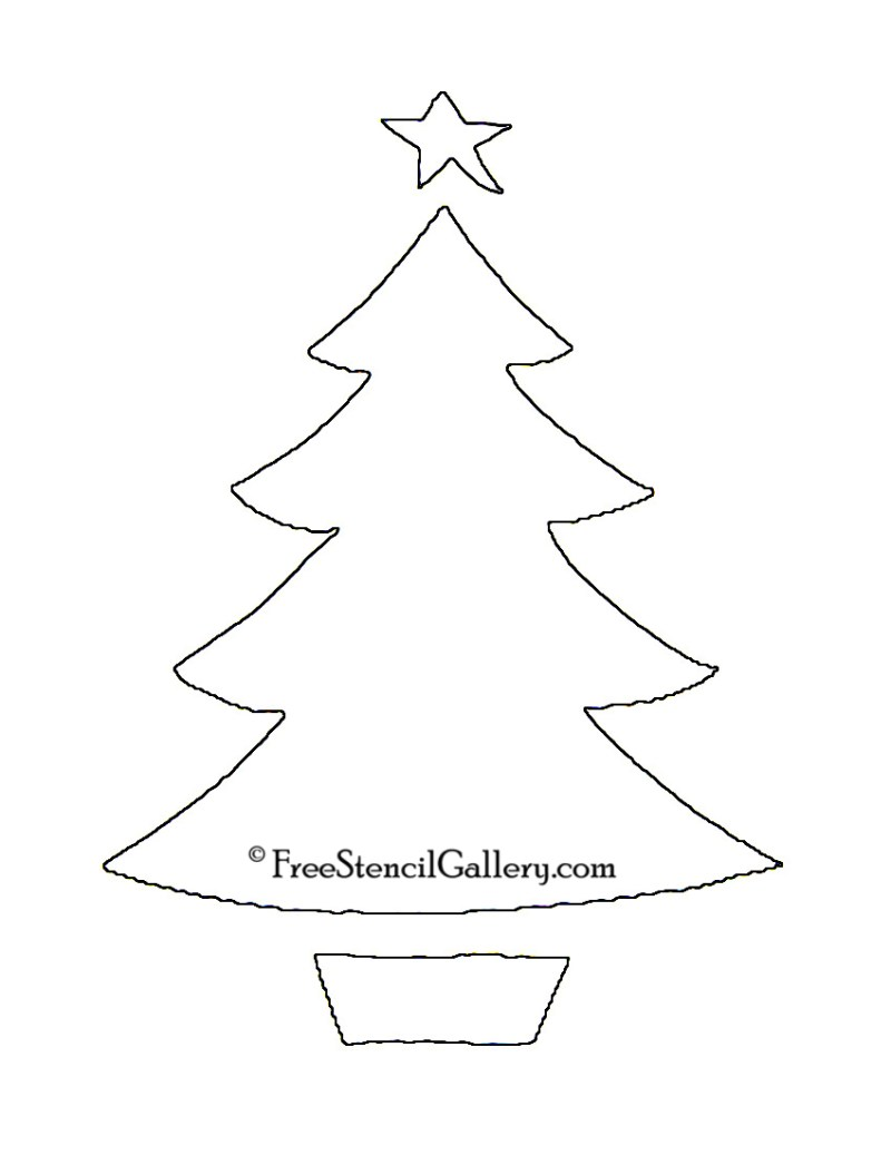 christmas tree decorations stencils