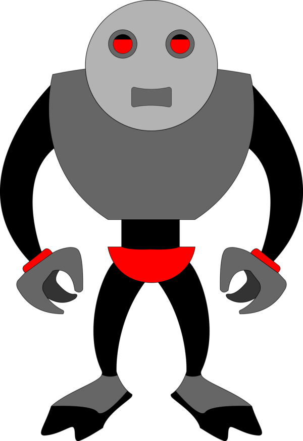 Robot Free Stock Illustration Of Grey Cartoon