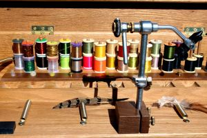 portable fly tying work station