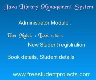 Library management system project in JAVA
