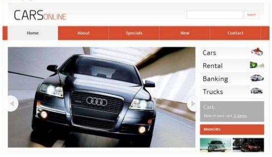 Web based Vehicle Showroom