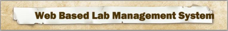 Web Based Lab Management System